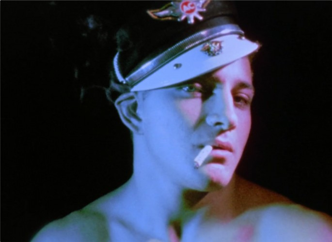 Kenneth Anger, </span><span><em>Scorpio Rising (film still)</em>, </span><span>1963.  16mm film transferred to digital file. Courtesy of Anger Management.