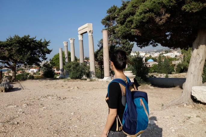 Jayce Salloum, </span><span><em>K searching the fields, title tba</em>, </span><span>Byblos, Lebanon, 11/22/15