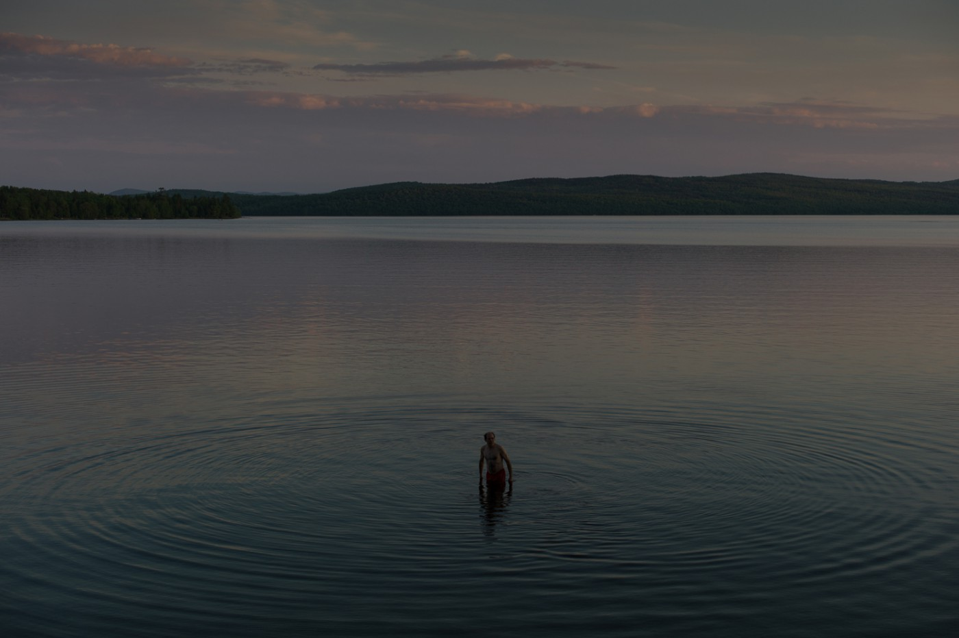 Michel Huneault, </span><span><em>Jacques. First swim of the year in Lac Mégantic</em>, </span><span>June 2014