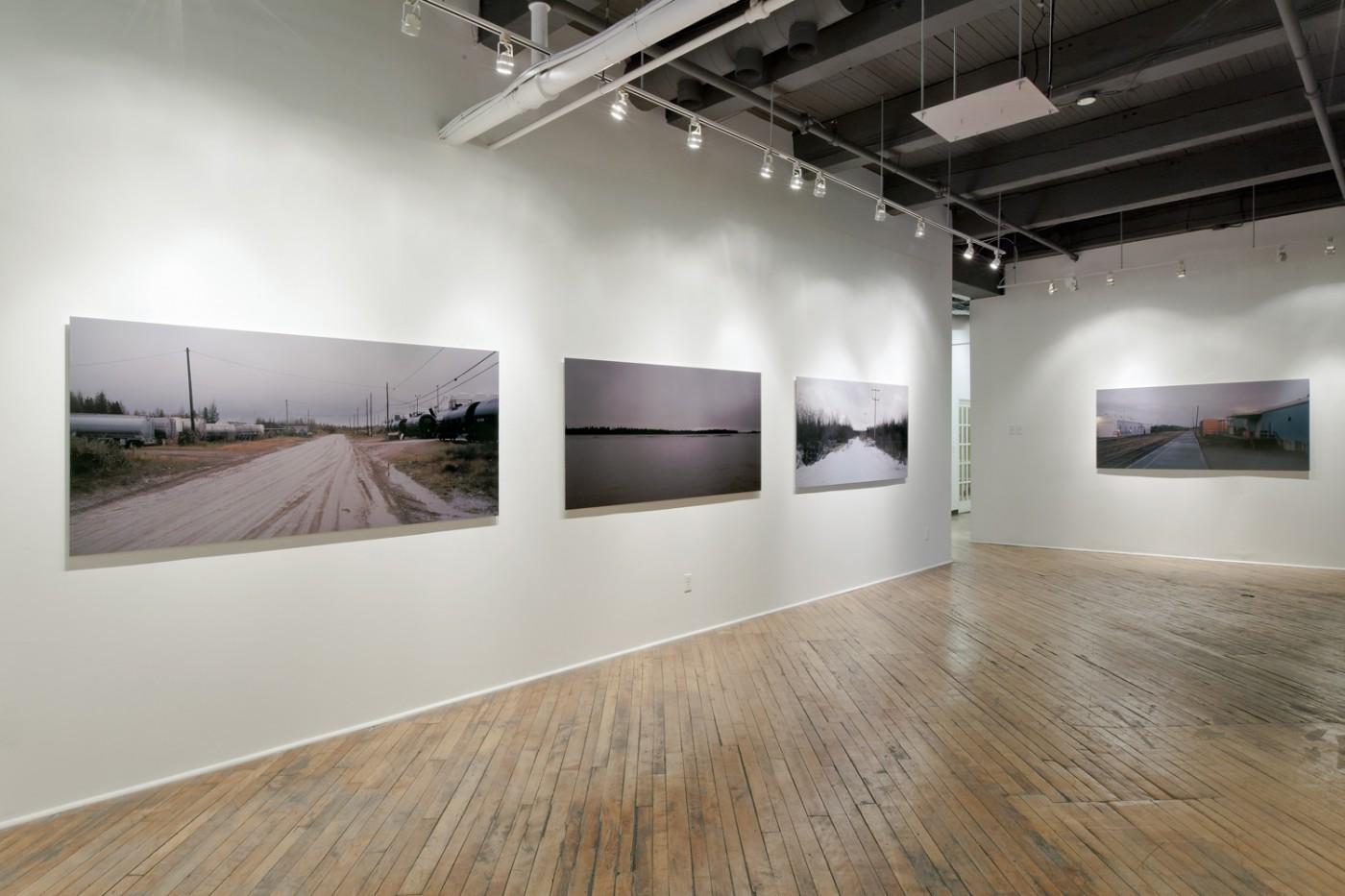 Installation view of Jesse Louttit, </span><span><em>No Roads</em>, </span><span>2012