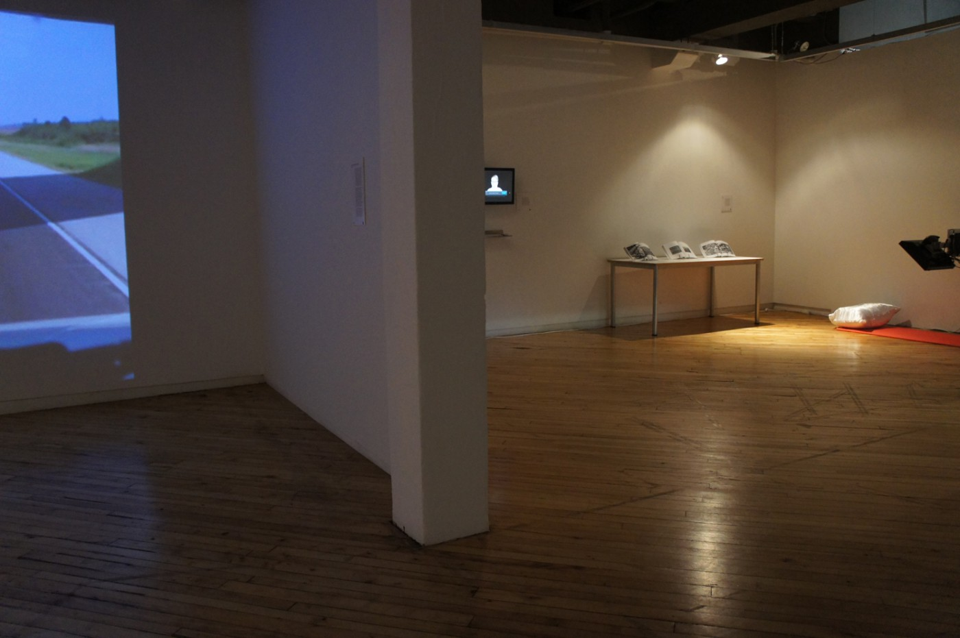 Installation view of, </span><span><em>Medium_Massage 2.0 :: an infinite inventory</em>, </span><span>2011