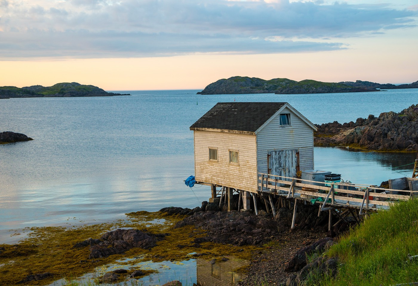 Sheila Jonah, </span><span><em>Dusk on Change Islands</em>, </span><span>2016