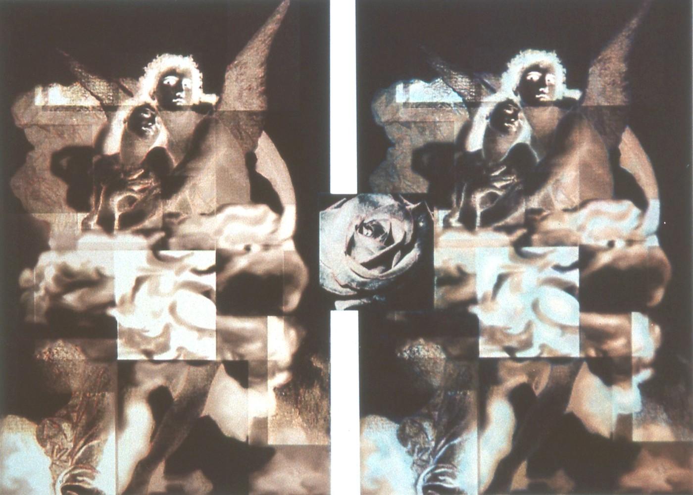 Parvaneh Radmard, </span><span><em>B16: Eternal Growths, Two Angels</em>, </span><span>2013