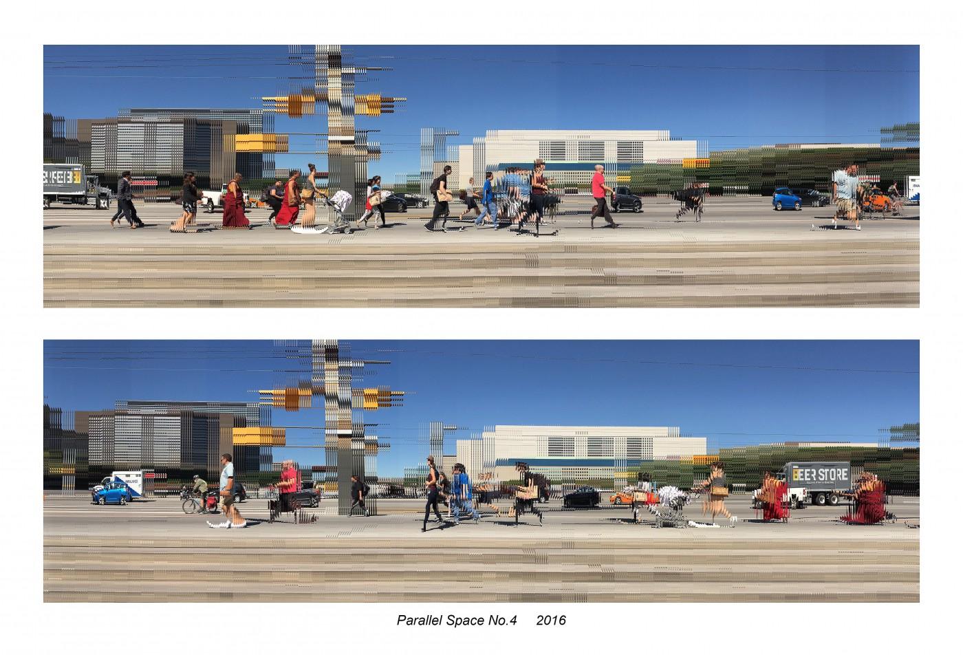 Fu Meng, </span><span><em>Parallel Space No.4</em>, </span><span>2016