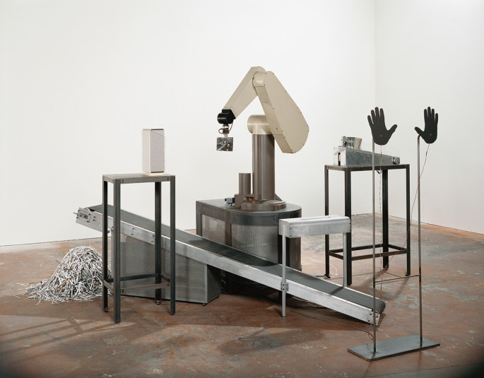 Max Dean, </span><span><em>As Yet Untitled, 1992-1995</em>, </span><span>View of robotic installation, Art Gallery of Ontario, Toronto, 1997. Courtesy of the artist and the Art Gallery of Ontario. © Max Dean