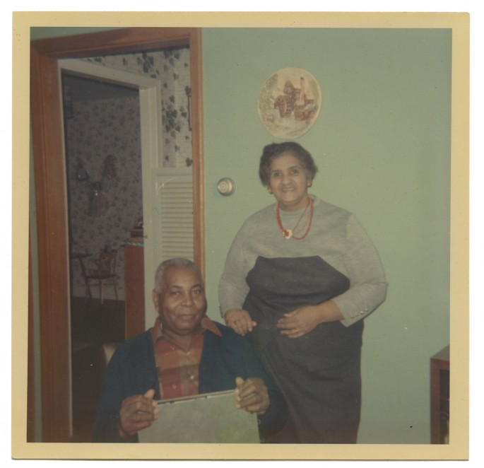 "Photographer unknown, </span><span><em>Richard and Iris Bell, St. Catherines, ON</em>, </span><span>c. 1963 - 1967. Dye coupler print, 5 x 5"". Courtesy of Brock Univeristy Archives, RG 63 - Rick Bell Family Fond."
