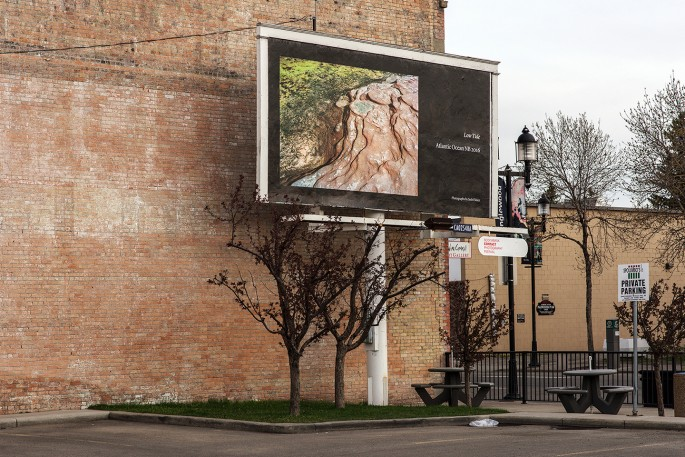 Seth Fluker, </span><span><em>Blueberry Hill</em>, </span><span>installation view of billboards in Calgary. 9 Ave at 9 St SE &amp; 10 St SE. 2017.