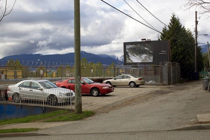 Seth Fluker, </span><span><em>Blueberry Hill</em>, </span><span>installation view of billboards in Vancouver. Clark Dr at East 4 Ave &amp; East 2 Ave. 2017.