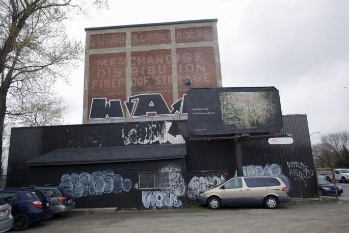 Seth Fluker, </span><span><em>Blueberry Hill</em>, </span><span>installation view of billboards in Montreal. Van Horne Ave at St Laurence Blvd &amp; St Urbain. 2017.