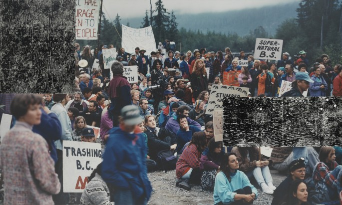 Ian Wallace, </span><span><em>Clayoquot Protest, August 9, 1993</em>, </span><span>1993-95. Collection of the Vancouver Art Gallery.