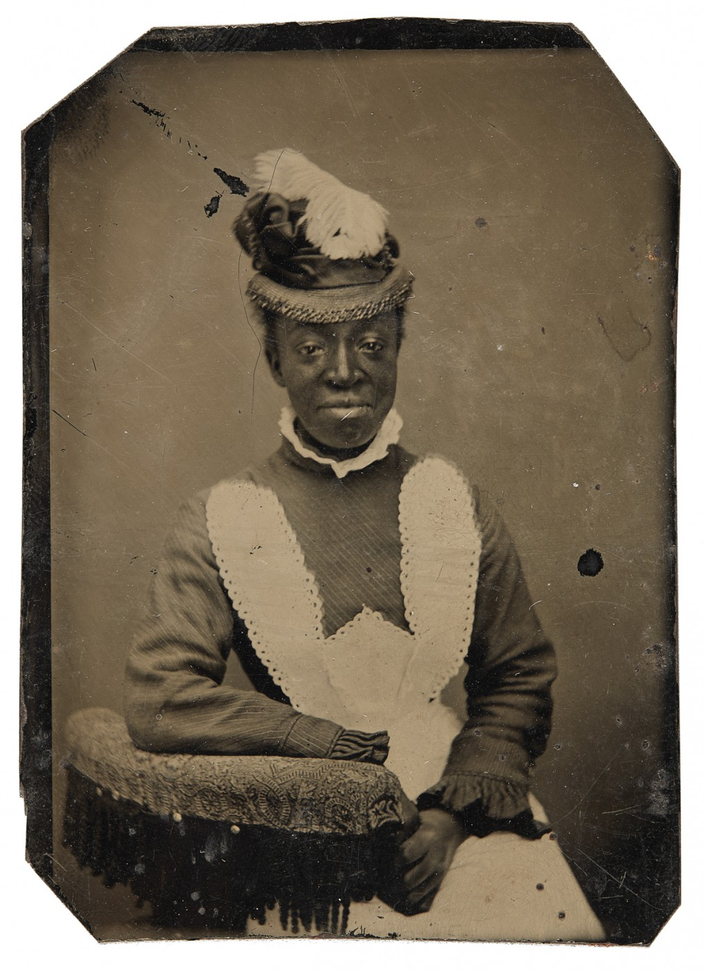 "Unknown photographer, </span><span><em>Unidentified woman</em>, </span><span>1870-1880. Tintype, 3x2.5"". Richard Bell Family Fonds, Brock University Archives. Courtesy of Brock University Archives. © 2017 Art Gallery of Ontario."