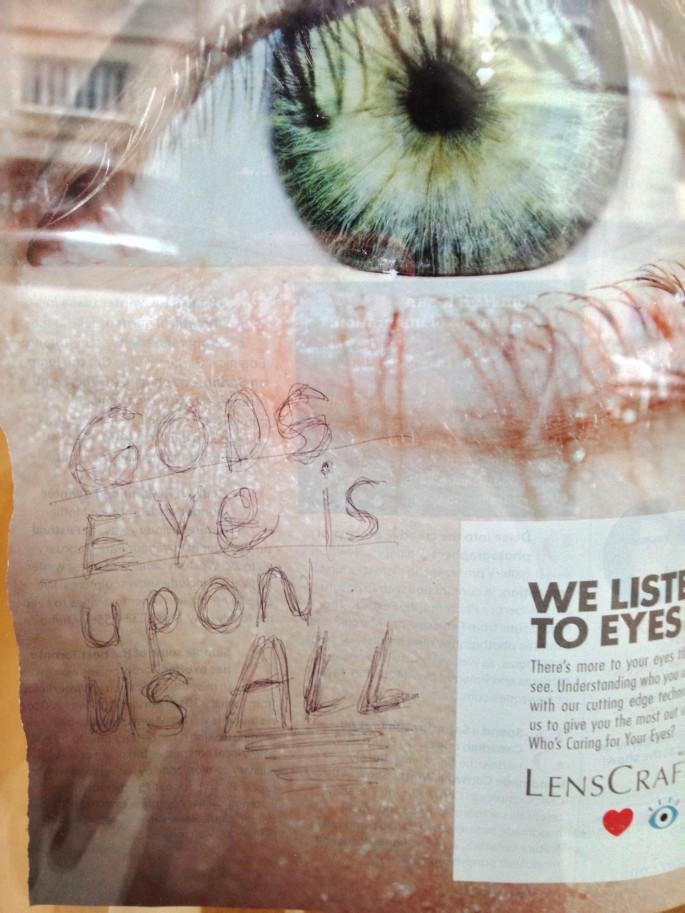 Marta McKenzie, </span><span><em>God's Eye Is Upon Us All</em>, </span><span>2016